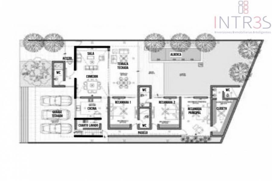 Mérida,Yucatán,México,3 Habitaciones Habitaciones,4 BañosBaños,Casas,2983