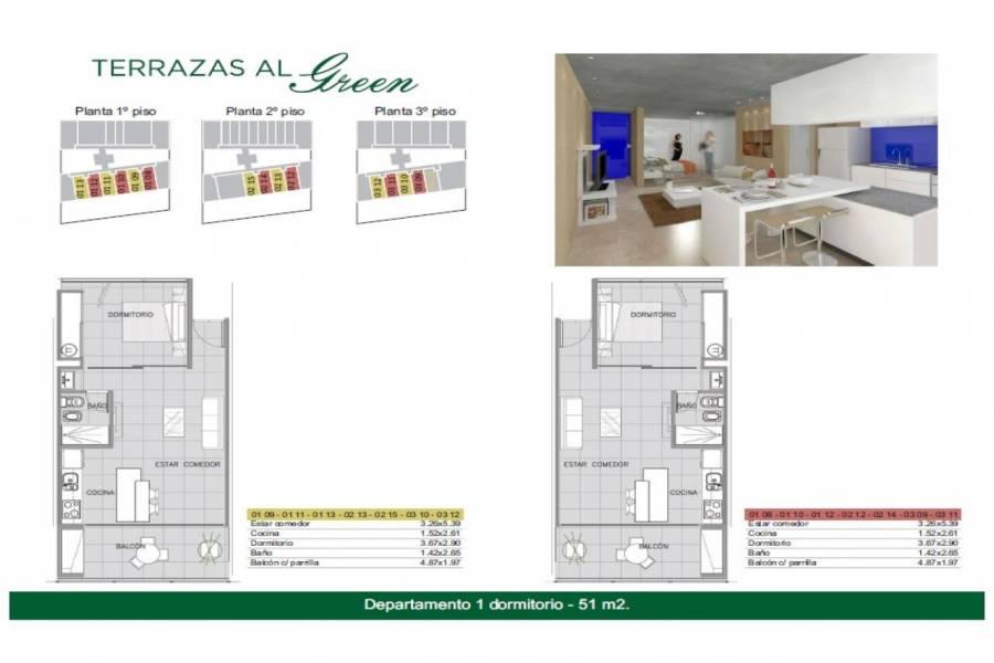 Rosario,Santa Fe,1 Dormitorio Habitaciones,1 BañoBaños,Departamentos,Torre Green,Av. Eva Peron,1545