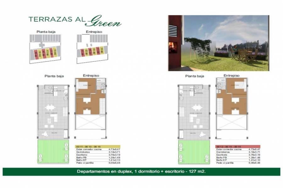 Rosario,Santa Fe,2 Habitaciones Habitaciones,1 BañoBaños,Departamentos,Torre Green ,Av. Eva Peron,1549