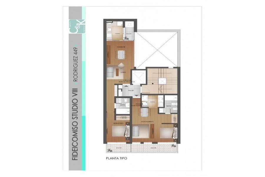 Rosario,Santa Fe,1 Dormitorio Habitaciones,1 BañoBaños,Departamentos,Studio VIII,Rodriguez,3,1575