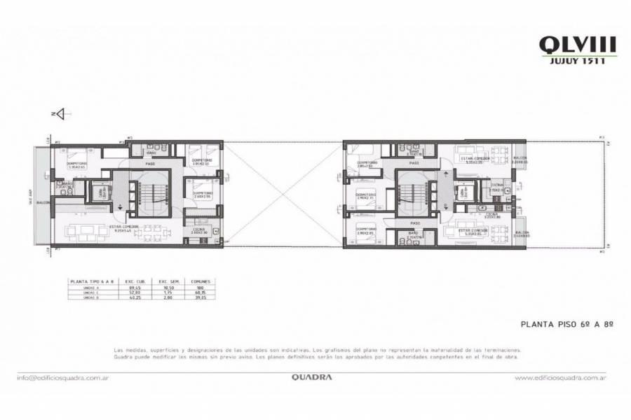 Rosario,Santa Fe,2 Habitaciones Habitaciones,1 BañoBaños,Departamentos,Quadra LVIII,Jujuy,2,1606