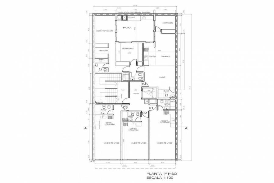 Rosario,Santa Fe,1 Dormitorio Habitaciones,1 BañoBaños,Departamentos,La Internacional 9,Jujuy,2,1612