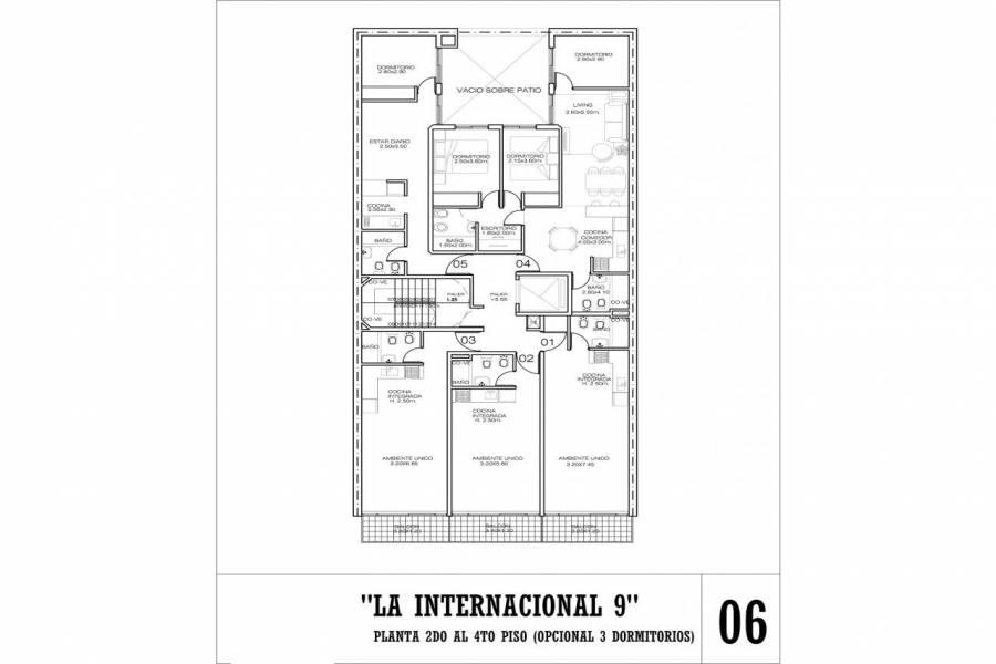 Rosario,Santa Fe,1 Dormitorio Habitaciones,1 BañoBaños,Departamentos,La Internacional 9,Jujuy,3,1616