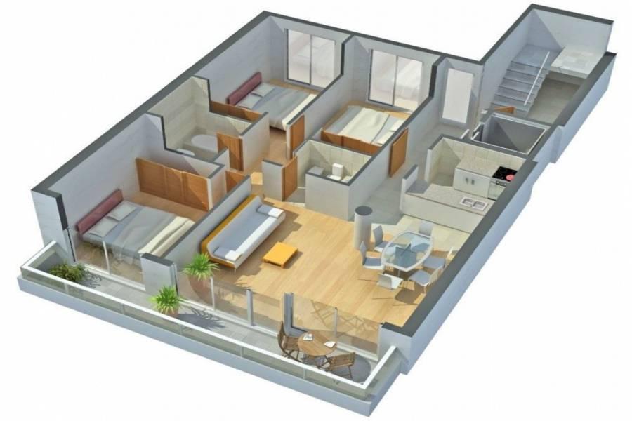 Rosario,Santa Fe,3 Habitaciones Habitaciones,2 BañosBaños,Departamentos,La Internacional 6,Av. Francia,10,1620