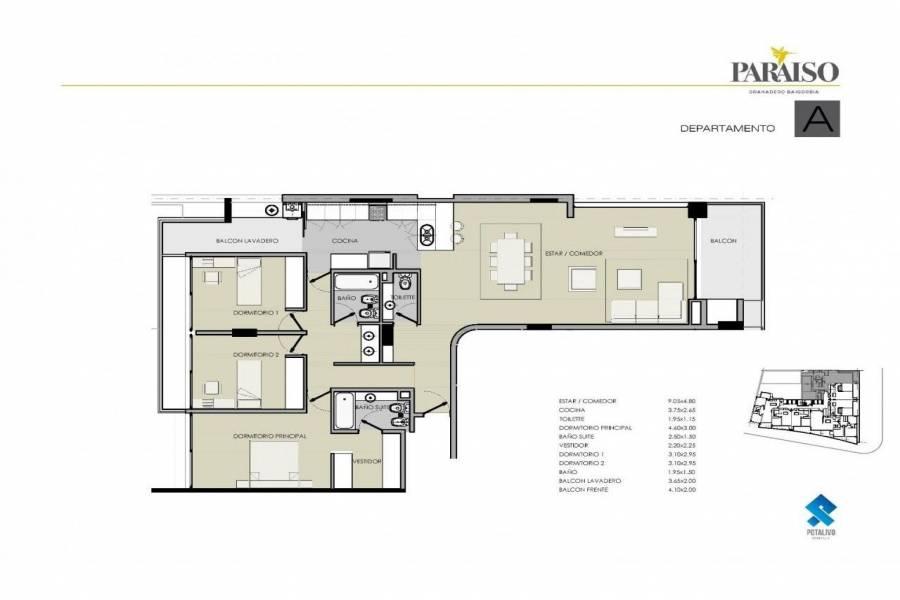 Granadero Baigorria,Santa Fe,2 Habitaciones Habitaciones,1 BañoBaños,Departamentos,Edificio Paraiso,Av. San Martin,1623