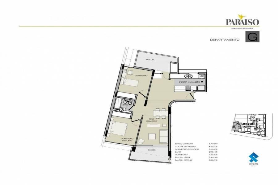 Granadero Baigorria,Santa Fe,1 Dormitorio Habitaciones,1 BañoBaños,Departamentos,Edificio Paraiso,Av. San Martin,1624