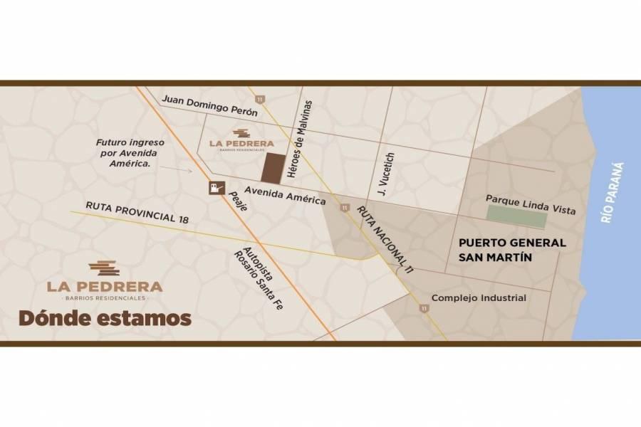Puerto Gral San Martin,Santa Fe,Lotes,Barrio La Pedrera,Av. America y Heroes de Malvinas,1650